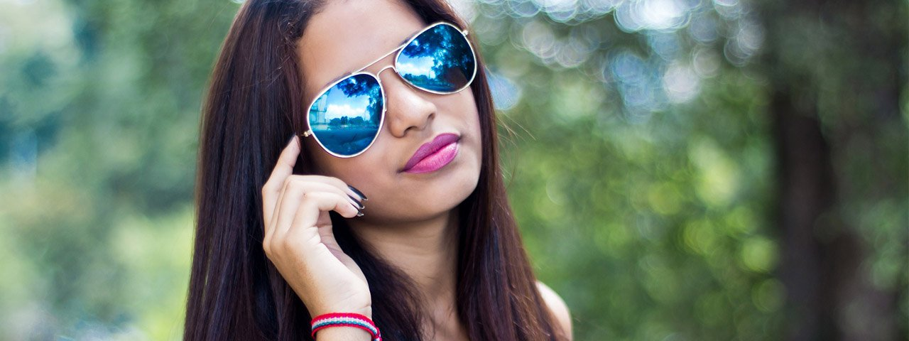 Girl Blue Tinted Sunglasses 1280x480
